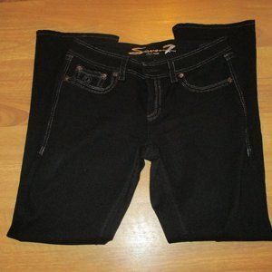Seven7 Black Rocker Slip Bootcut Jeans 12